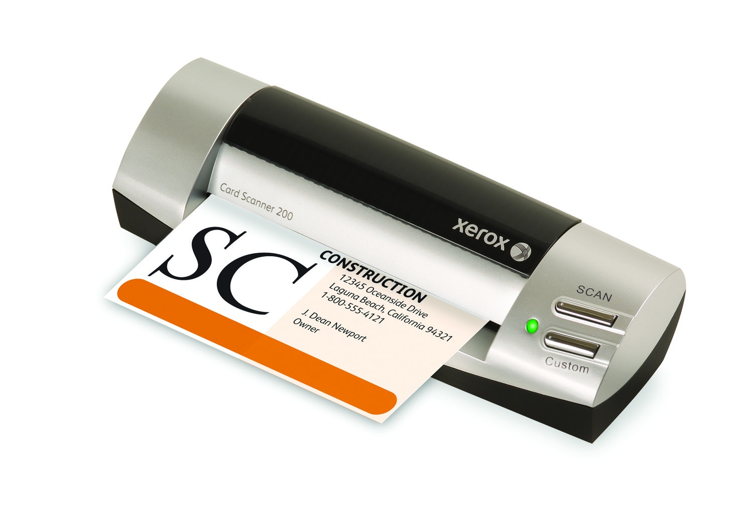 Card scanner 200 for Small business card reader